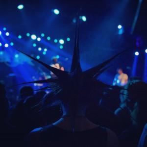 Concert Lights through Liberty Spikes